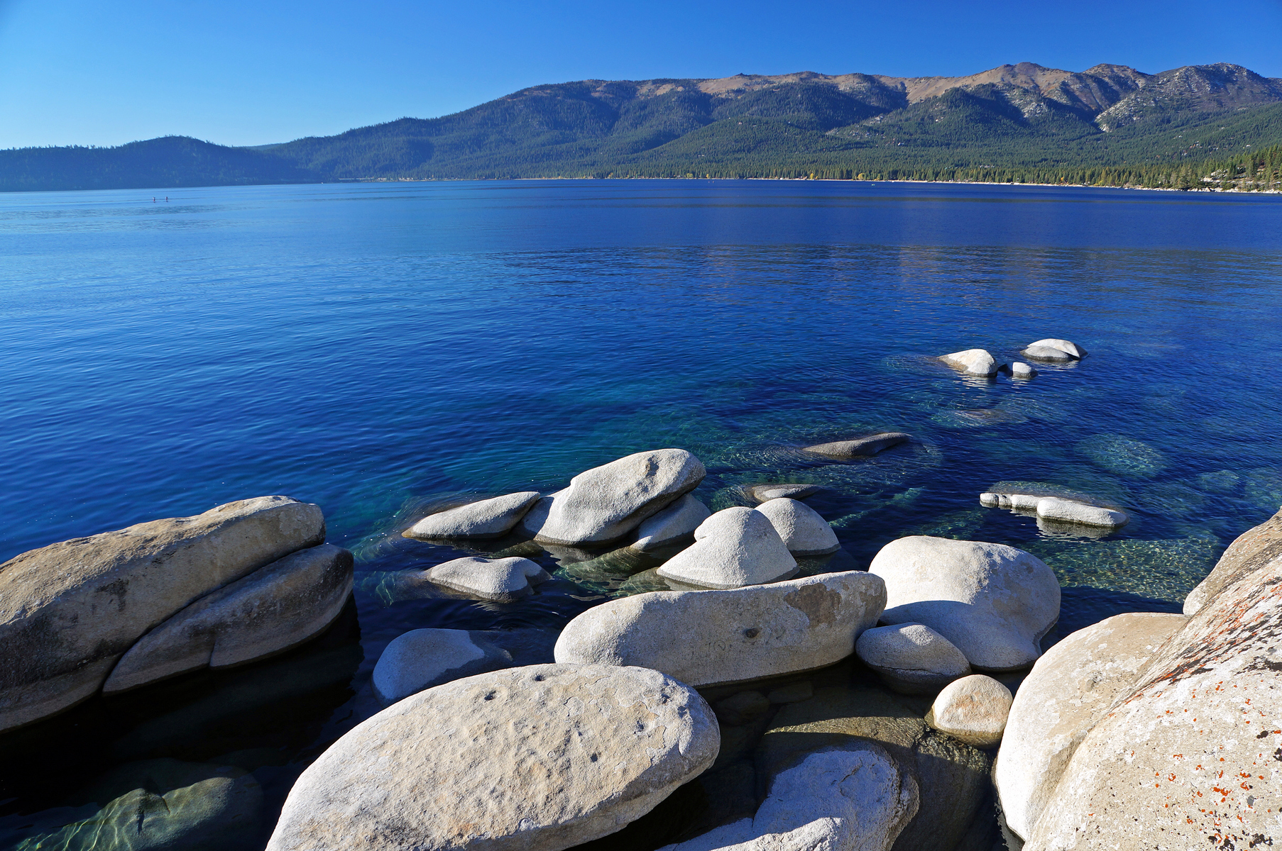 granite boulders along the short south of Incline Village, Nevada