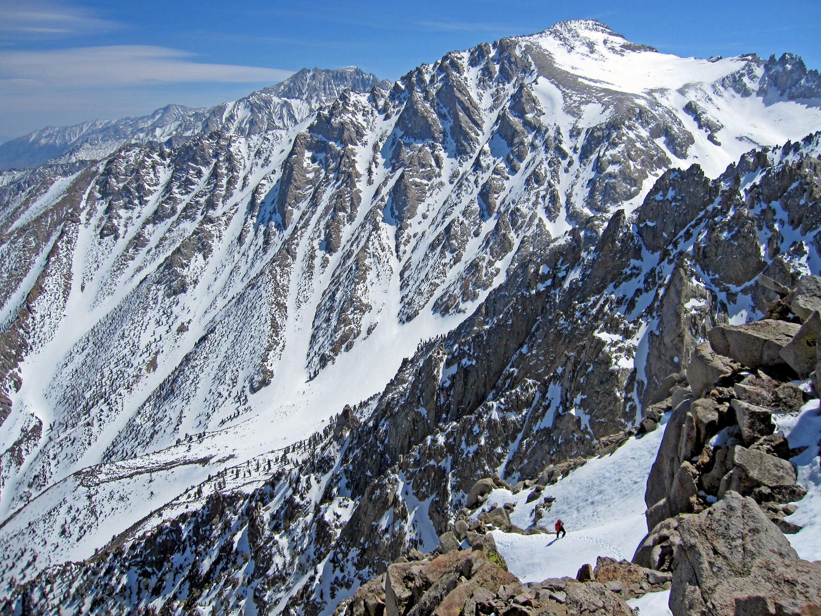 with the massive bulk of Mt. Williamson behind - eastern Sierra, California