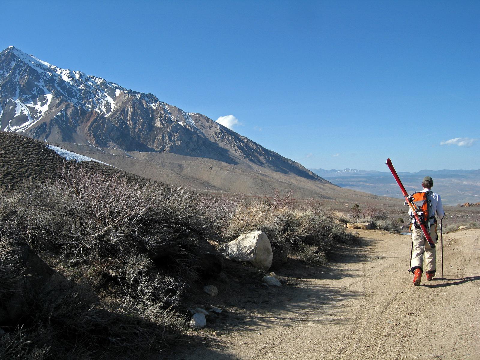 backcountry skiing in the eastern Sierra, California