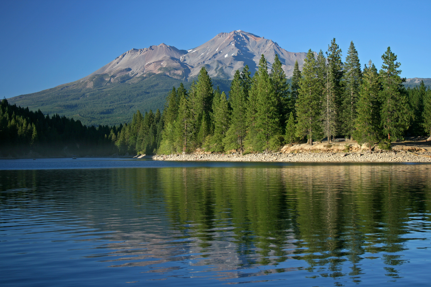 east of the town of Mt. Shasta, northern California