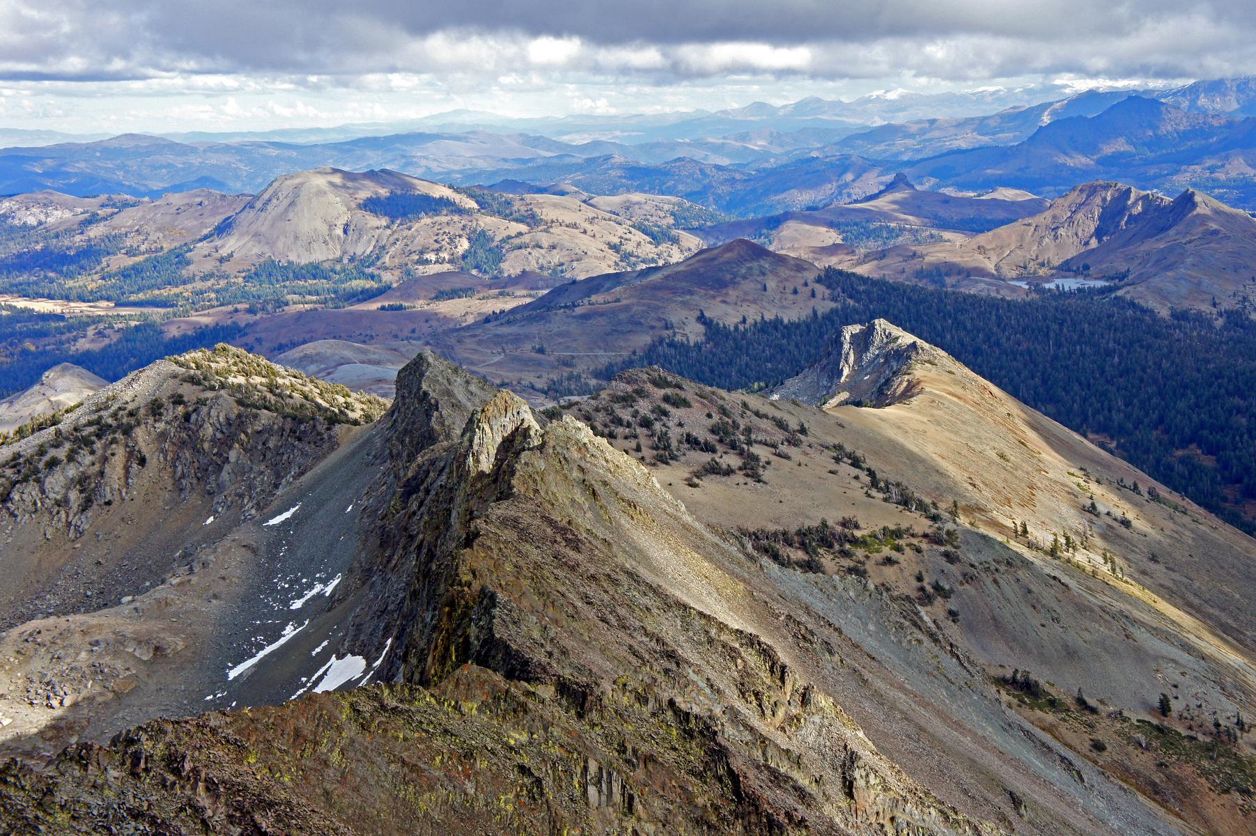 on the summit of Round Top, near Carson Pass in the Mokelumne Wilderness, California