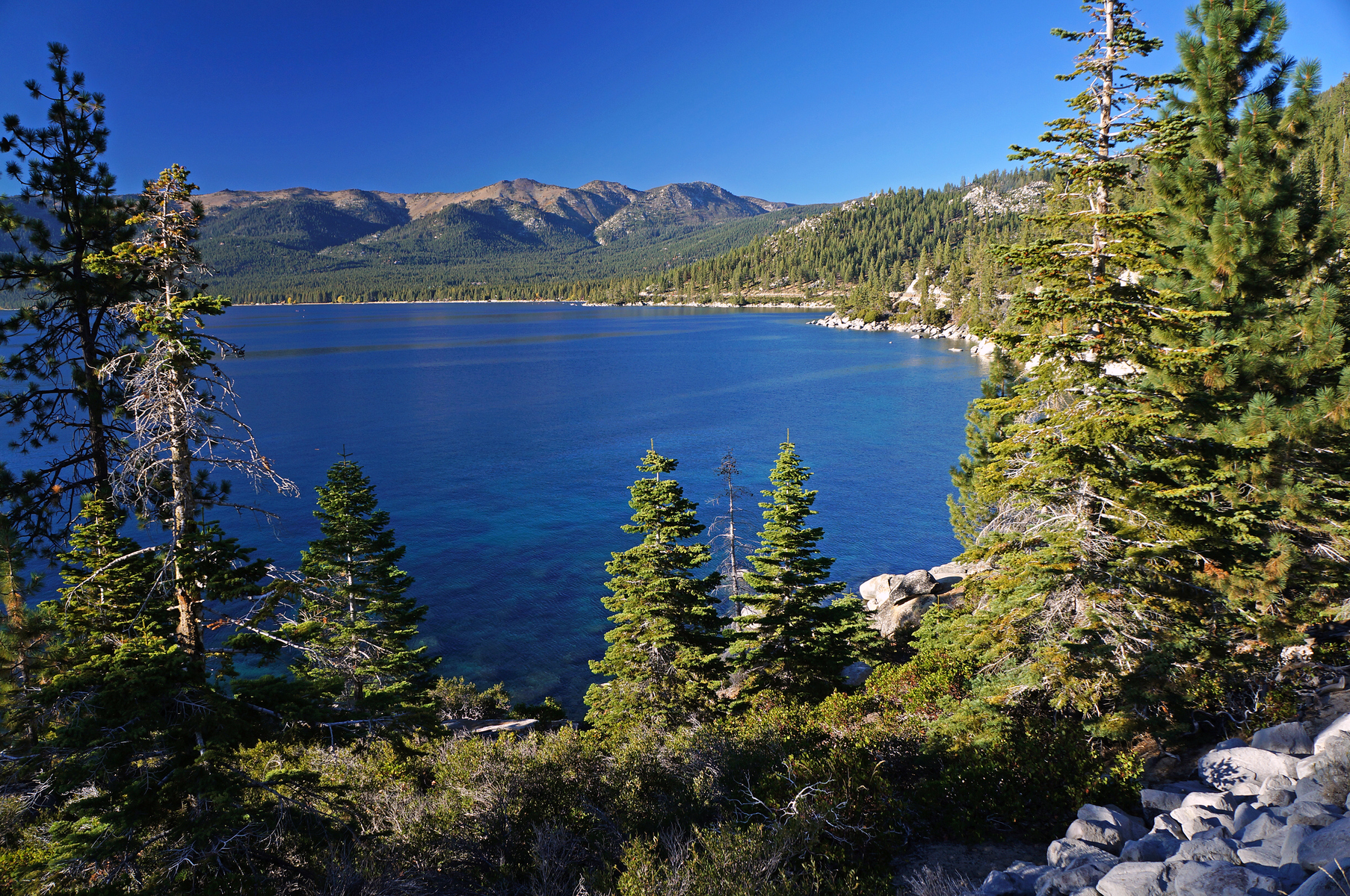 overlooking Lake Tahoe from the east shoreline