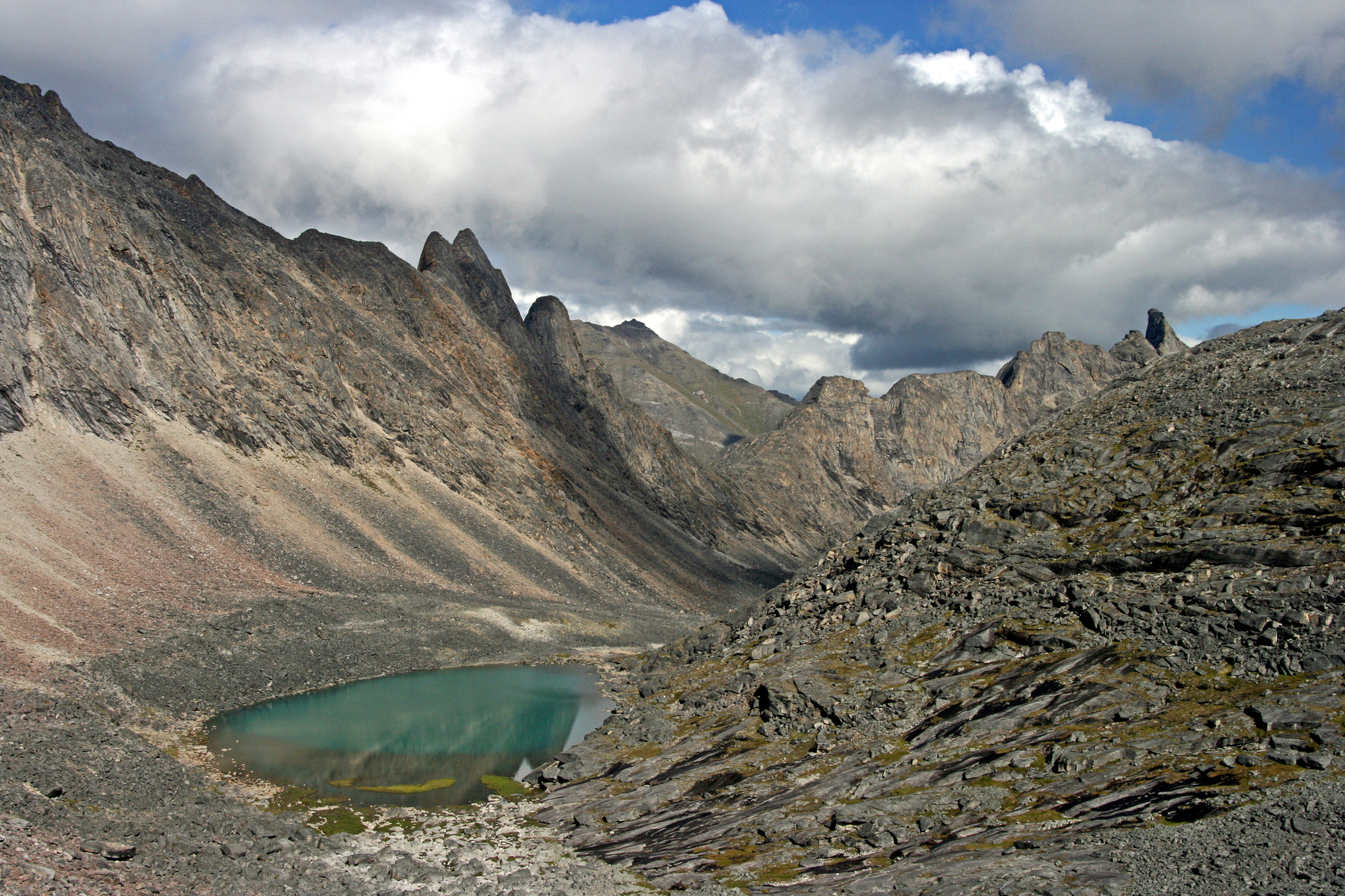 alpine lake in the Arrigetch Peaks, Gates of the Arctic National Park, Alaska