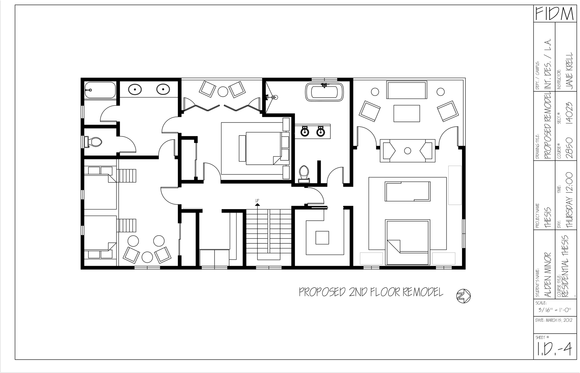 Proposed 2nd Floor Remodel