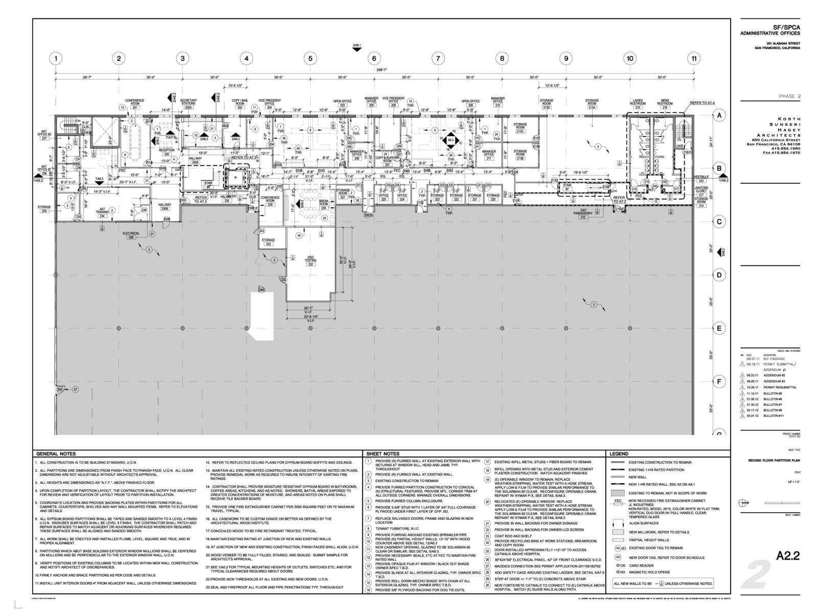Construction Documents 1st Floor Plan