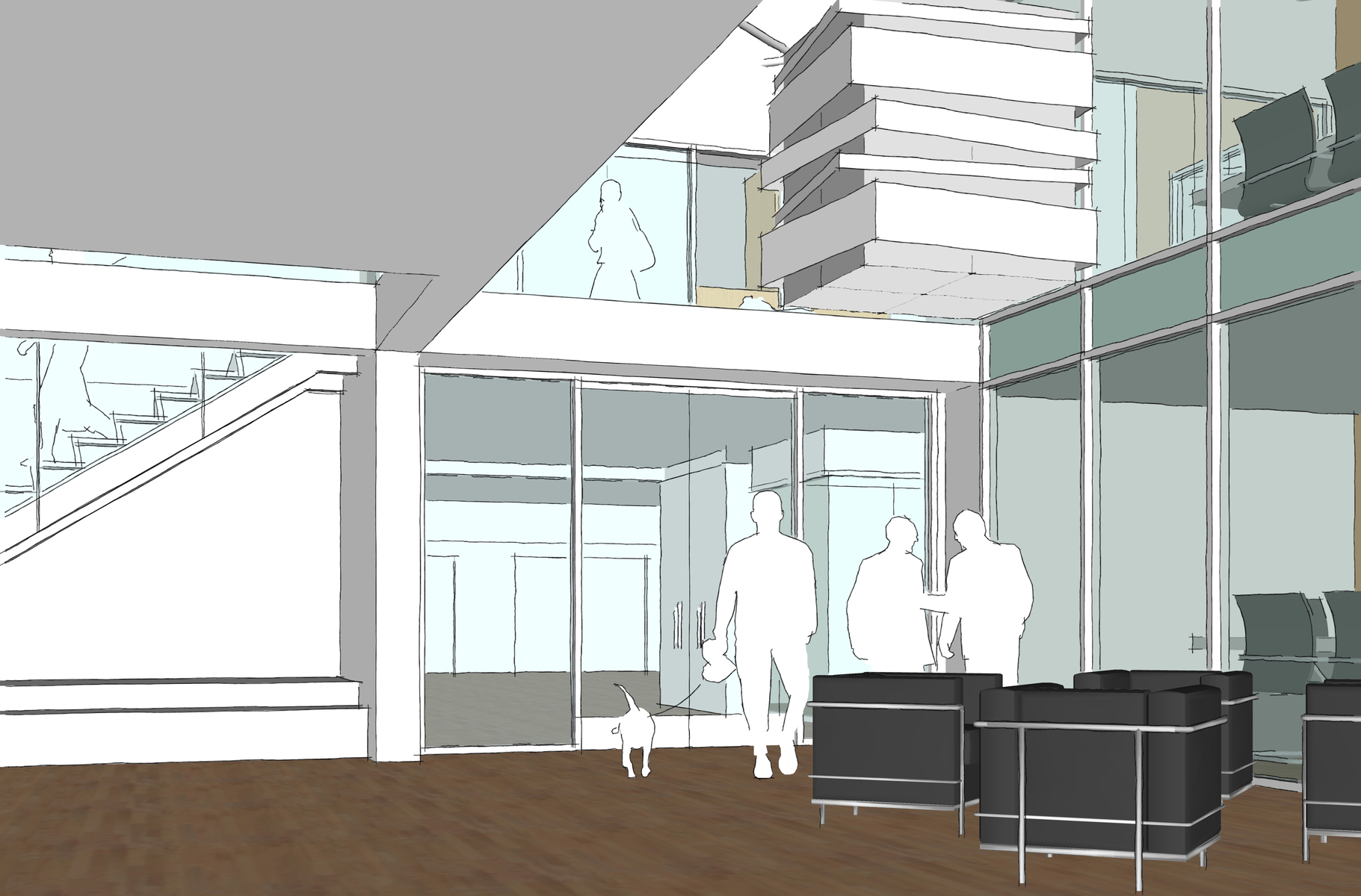 SketchUp Space Plan Rendering