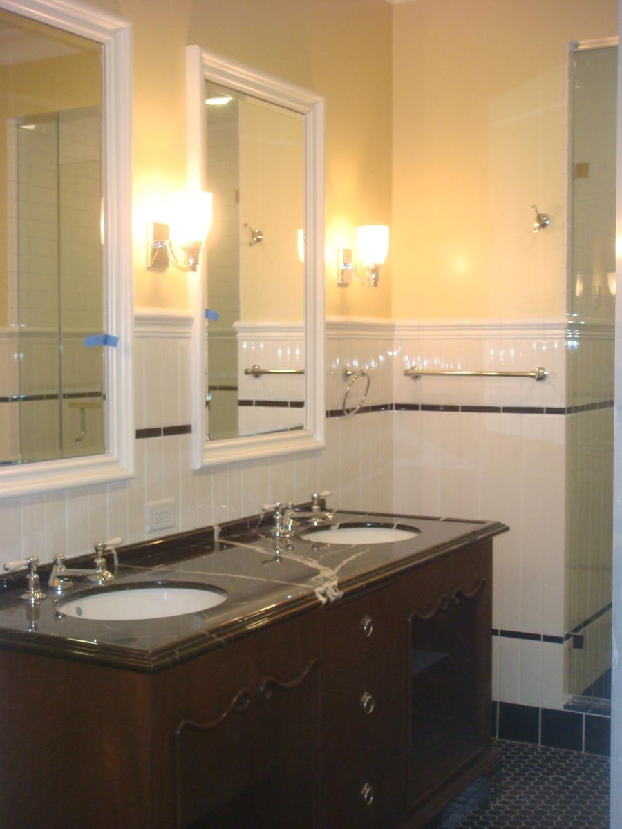 Construction Photograph Bathroom Vanity