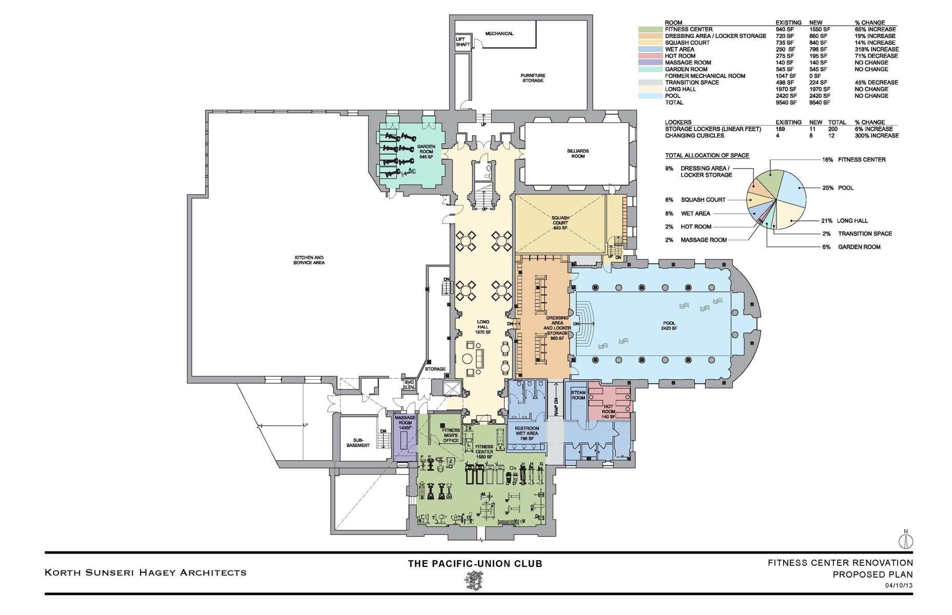 Proposed Fitness Center Plan
